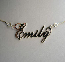 Sterling Silver 925 Personalised Girls Ladies Name Necklace on 16 inch Box Chain
