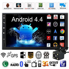 "Quad Core Android 3G WIFI 7"" 2DIN Car Radio Stereo MP5 Player GPS Nav BT+ Camera"