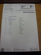 1977 informazioni stampa ATLETICA LEGGERA FOGLIO: EUROPEAN CLUBS Cup-Salto triplo B finale