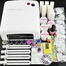 Value Set 36W UV Gel Curing Dryer Lamp + UV Gel Nail Kit Tools Set 252