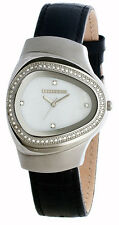 Lambretta Womens Milio Mid Stainless Watch Black Leather Strap 2058/BLA