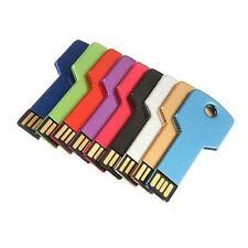 Hot 64GB Flash Drive Metal Thin Key Pen Drive Memory Stick USB 2.0 Storage Disk