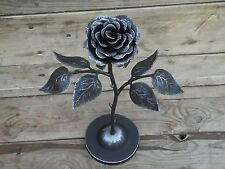Hand forged rose on the stand,  Steel rose, Iron flower, Mother's Day gift