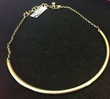 NWT Brighton MONOGRAM Gold Choker Gold for Charms Scoop Bar Necklace Retail $34