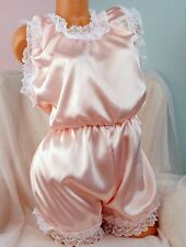 Satin Soft Full Lacy shiny stunning Sissy dress up L XL lingerie Teddy Romper