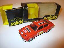 Opel Kadett C Coupe GT/E gte Rallye Monte Carlo 1978 Dorche #31, Solido in 1:43!