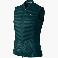 Nike aeroloft Womens 800 fill Down runners Vest Teal Green 546673 380 Sz XS
