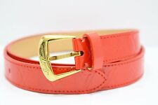 "Louis Vuitton Monogram Vernis ""Ceinture Phoenix"" Orange Sunset Belt 80/32"