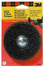"New 3M  4"" X 1-1/4 Large Area Paint & Rust Stripper,1/4"" Shank,9099NA- Free Ship"
