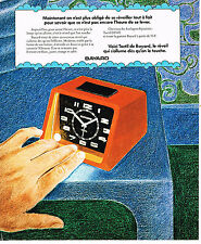 PUBLICITE ADVERTISING 015  1975   BAYARD   réveil tactile