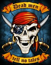 "Pirate Towel Skull Dead Men Tell No Tales Beach Pool JUMBO FOR TWO 54""x68"""