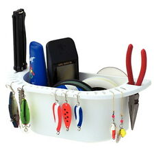 White Plastic Deluxe Cockpit Organizer for Boats - Holds Lures, Plyers, Knives