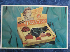 Vintage 1950's Barbershop Andis Vibrator Color Sign Ad