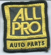 All Pro Auto Parts truck driver patch 2-5/8 X 2-3/8