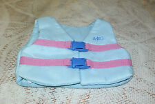 American Girl KANANI LIFE VEST (only) for her Paddle Board Set Mint Aqua Pink