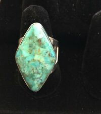 HSN Jay King - DRT - Sterling Silver .925 Gemstone Turquoise Ring Size 9