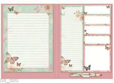 Notepad & Sticky Notes Book With Shopping List Pad Butterfly Notebook gift