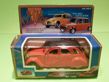 WELLY CITROEN 2 CV - PULLBACK + GO  - 1:43 - RARE SELTEN - GOOD CONDITION IN BOX