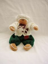 "Adorable Soft 14"" Christmas Dressed Gingerbread CHEF Plush Doll~MINT"