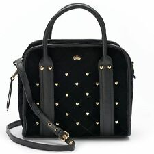 NWT Juicy Couture Studded Convertible Satchel Crossbody Tote Shoulder Bag -
