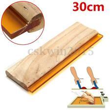 """12"""" 30cm Silk Screen Printing Squeegee Scratch Ink Scraper Square Blade 75-shore"""