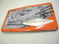 12Pcs Mont Marte Graphite Pencils Set w/ Box 2H,H,F,HB,B,2B,3B,4B,5B,6B,7B,8B