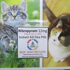 Flea Pills 12mg .Cats  2lbs.-25lbs.(3 Pack )+1 FREE SALE $5.99 GREAT REVIEWS !!!