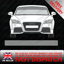 SILVER WINDSCREEN SUNSTRIP CAR VAN DECALS GRAPHICS STICKERS RACING VINYL