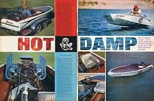 1966 Great 2 Page Article & Pic of Bert Berge's Stocker Super Sano 427 Ford Boat