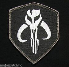 MANDALORIAN BANTHA SKULL STAR WARS BOUNTY HUNTER BOBA FETT SWAT OPS HOOK PATCH