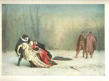 """1960 Art Print """"The Duel After The Masquerade"""" By Jean Leon Gerome Free Ship"""