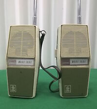 PAIR VTG 1971 GENERAL ELECTRIC YOUTH WALKIE TALKIES YS7110C WORKING CONDITION