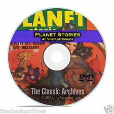 Planet Stories, 41 Vintage Pulp Magazines, Golden Age Science Fiction DVD CD C54