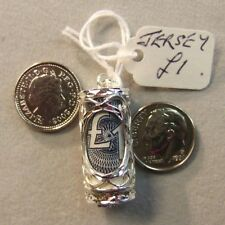 Sterling Silver New emergency jersey one pound note holder
