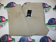 "NIKE MODERN FIT WASHED GOLF TROUSERS KHAKI/MIDNIGHT NAVY WAIST 32"" LEG 30"""