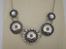 Snap-N-Go 3 Snap Necklace For Snap Style Button Ginger Charm Chunk (N21)