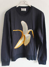 New Acne Studios Carly Banana Sweatshirt Sweater Navy Blue Size S Small