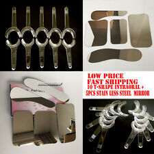 5PCS Dental Clinic Stainless Steel Photographic Mirror + 10PCS T-Shape Intraoral
