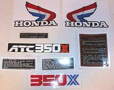 1986 86' Honda ATC 350X Frame decals sticker Kit set 8pc ATV vintage graphics