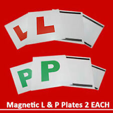 4 x Magnetic L & P Plates Exterior New Pass Car Learner Driver Reusable UK OTL