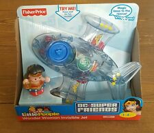 Fisher Price Little People DC Universe Super Friends Wonder Woman Invisible Jet