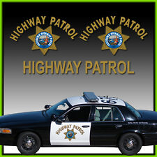 CHP Logo Aufkleber SET US Police Polizei California Highway Patrol Kalifornien