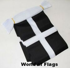 3m CORNWALL FLAG BUNTING 3 Metres Fabric Party Flags Cornish County St Pirans
