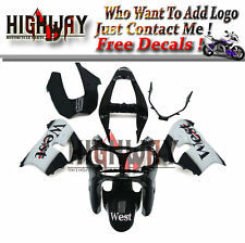 Body For Kawasaki ZX9R 2002 2003 ABS Fairings Kit Bodywork Black White West Set