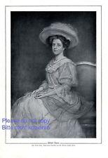 Wiener Dame Kunstdruck 1910 von Edmund Dussek * Klyusso † Wien Kleid Sommerhut
