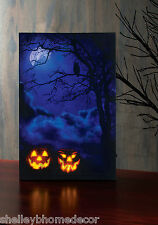 Halloween Pumpkins and Black Light Lighted LED Picture by Radiance x47026 NEW