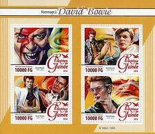 Guinea 2016 MNH David Bowie Tribute 4v M/S Music Stars Celebrities