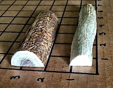2 Small Split Elk/Deer Antler Dog Chew-HARD MARROW-For Dogs Who Love To Chew!