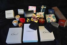 Assorted Vintage Decorated Lot of 23 Empty Jewelry Gift Necklace and Ring Boxes