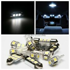 7 x White Led Light Bulbs Interior Package Kit 2001-2006 For Hyundai Santa Fe
